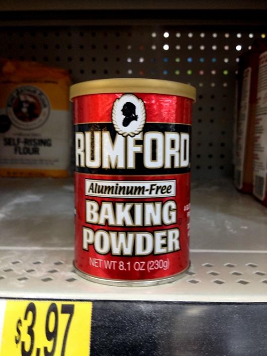 Rumford Baking PowderToned