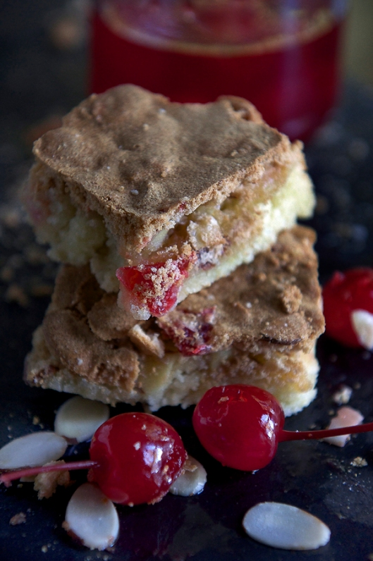 Stacked Cherry Almond Cookies